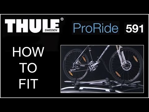 thule proride 591 bike carrier roof mounted youtube. Black Bedroom Furniture Sets. Home Design Ideas