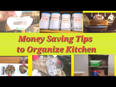 How to Organize Kitchen without spending Money - 10 tips for Organized Kitchen | ART OF HOMEMAKING