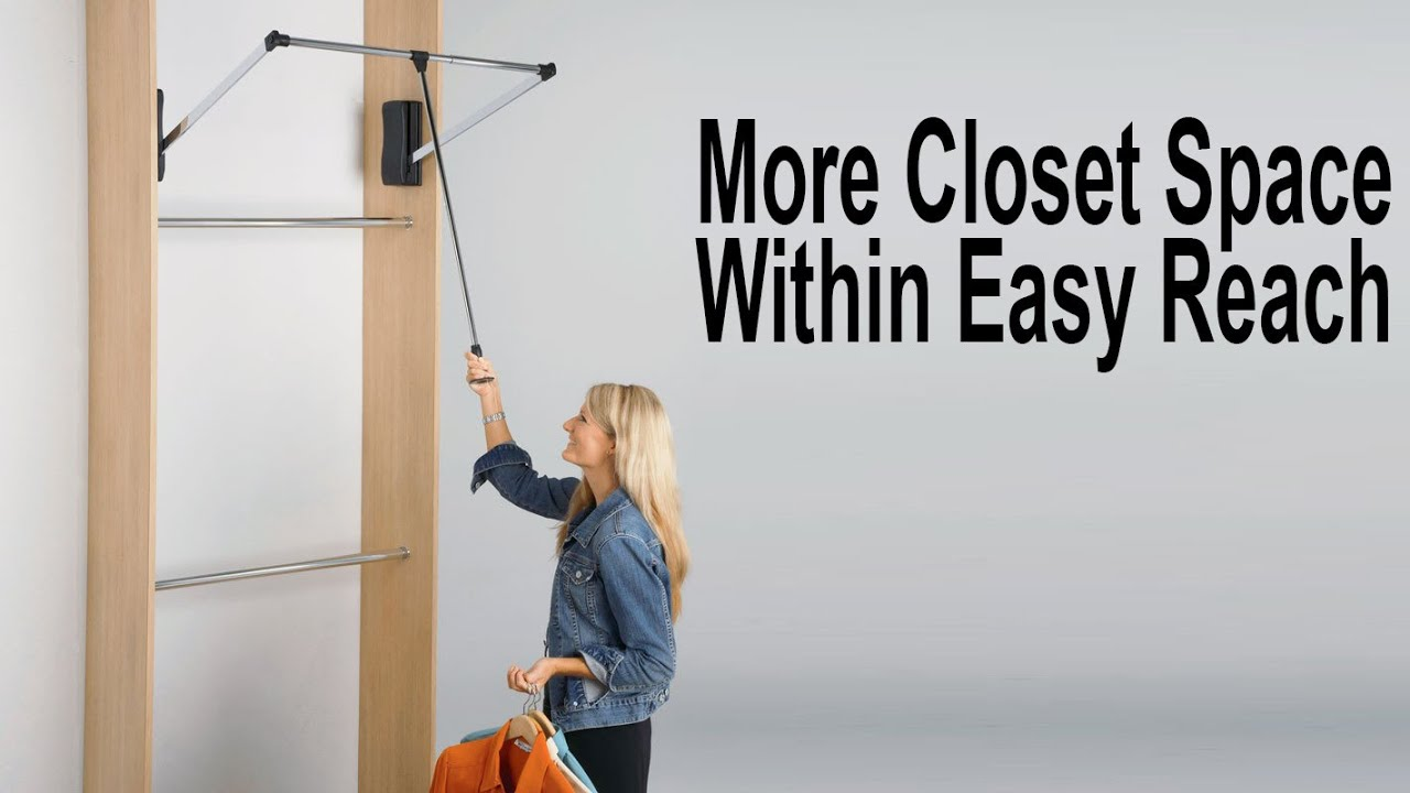 Hafele Adjustable Wardrobe Lift | DIY Closet Design   YouTube