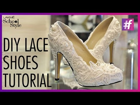 6ad039214f07 DIY Lace Shoes Tutorial