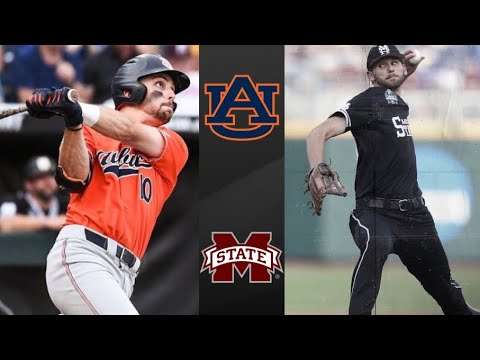 Auburn Vs #6 Mississippi State College World Series Opening Round | College Baseball Highlights