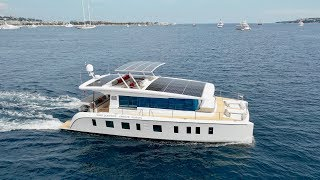 """Silent 55 e-catamaran 2018 - Worlds First """"Affordable"""" E-Catamaran Is Here! (and yes its fast too)"""