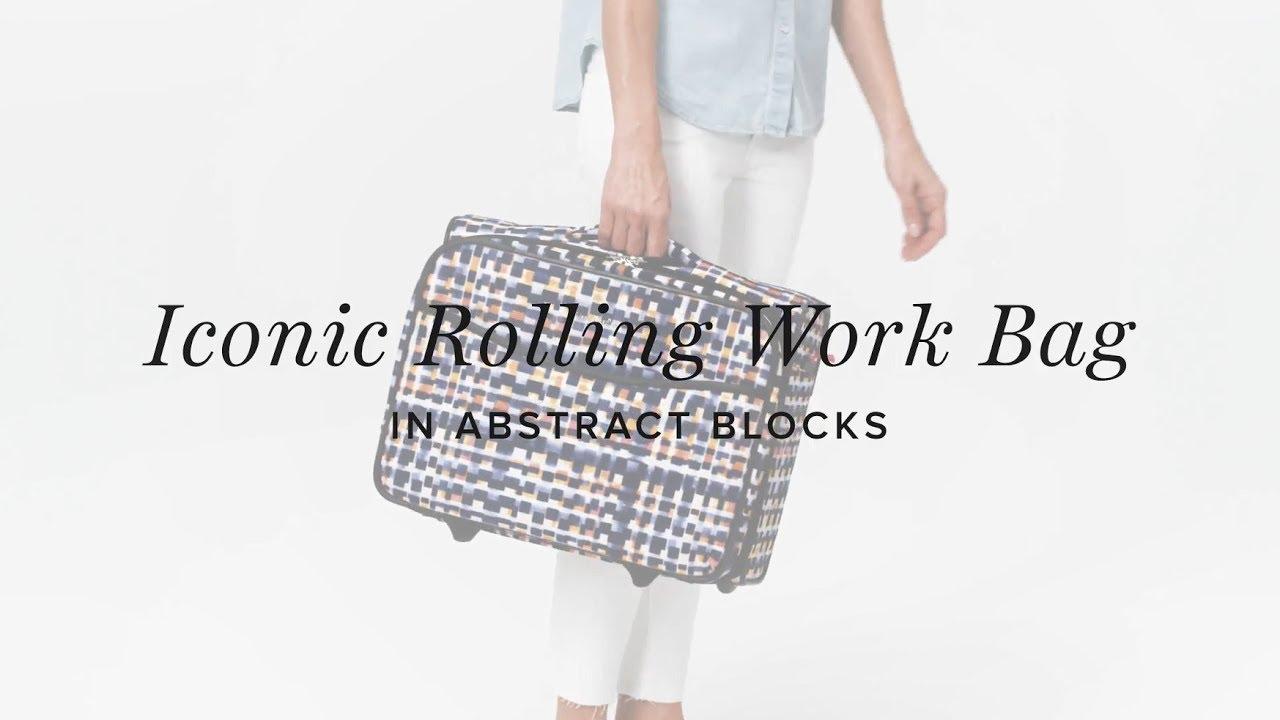 f4d6f3223580 Vera Bradley Iconic Rolling Work Bag - YouTube