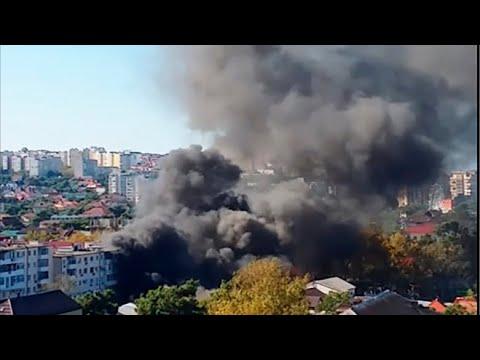 Центральный рынок горит в Геленджике 10 сентября 2019г. Очевидец о начале пожара.....