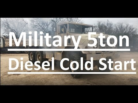 Military diesel cold start after 20years