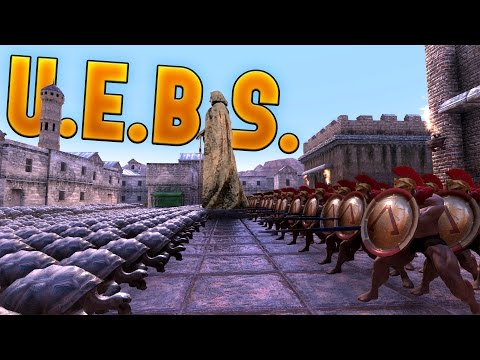 Ultimate Epic Battle Simulator - 300 Spartan Battle - New City Map and Tortoise Unit - UEBS Gameplay
