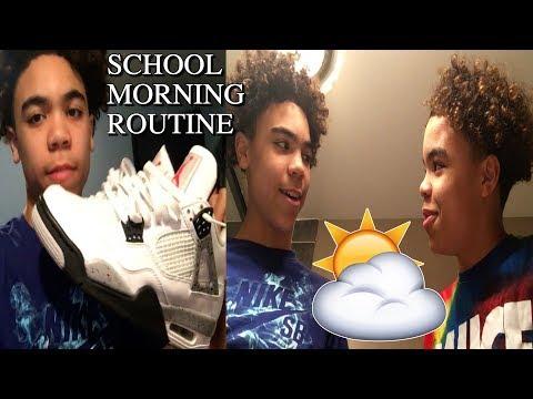 SCHOOL MORNING ROUTINE!! GRWM | Derrick & Derrion