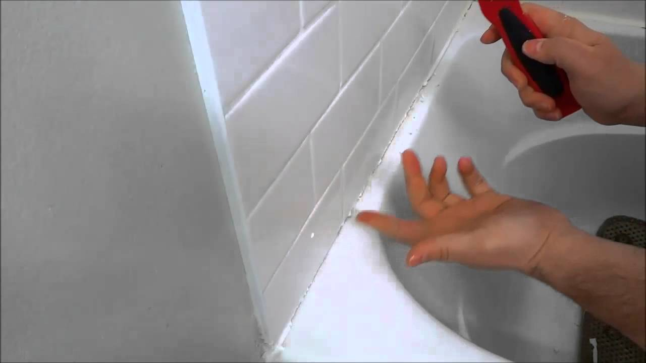how to use a caulking scraper for removing caulk youtube. Black Bedroom Furniture Sets. Home Design Ideas
