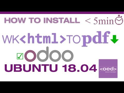 How To Install Wkhtmltopdf Ubuntu 18.04 Compatible With Odoo 11
