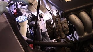 How to replace the drive belt tensioner on a 2003-2012 Honda Accord