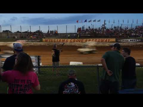 From the Infield - Heat Race Action - Williams Grove Speedway - 7/24/15