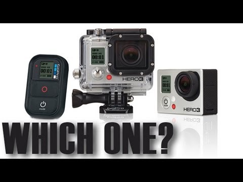 Which GoPro Should you buy? Hero3 Black, Silver or White Edition or Hero2