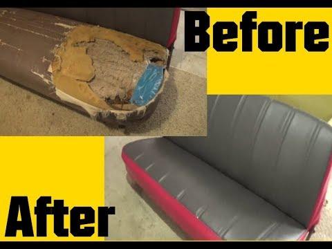 Bench Seat Foam Upholstery Restoration 1963 F100 Truck