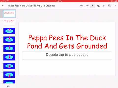 Peppa Pees In The Duck Pond And Gets Grounded