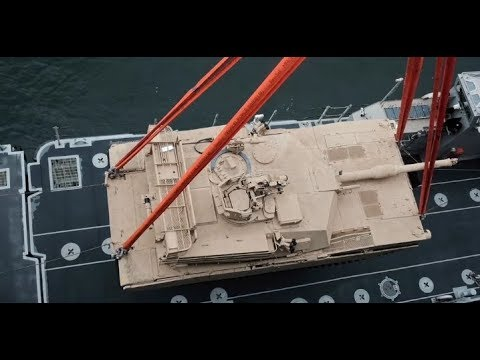 M1 ABRAMS Shipping & Unloading for Military Exercises *MILITARY SEALIFT COMMAND*