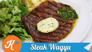 Resep Steak Wagyu (Wagyu Steak with Chimichurri Sauce recipe video) | YUDA BUSTARA