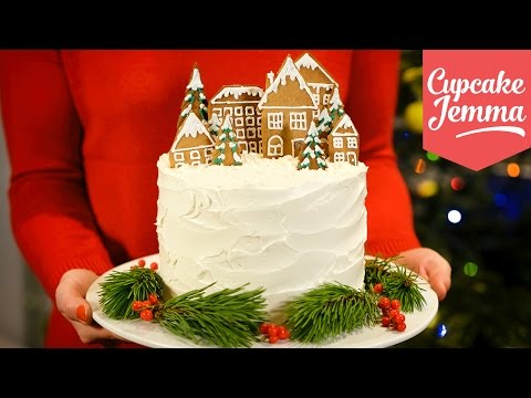 Alternative Double Chocolate Forest Fruit Christmas Cake recipe | Cupcake Jemma