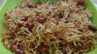 नवरात्रि मे इसे 1 बार बनाएं और 9 दिन तक आराम से खाएं | Vrat Special Lachaa Aloo Namkeen