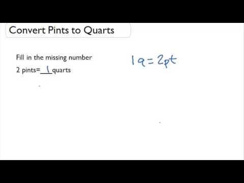 Convert Pints to Quarts