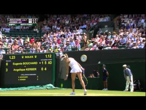 Genie Bouchard vs Angelique Kerber Wimbledon Quarterfinals Match Point