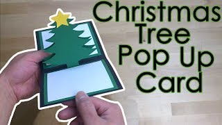 Tutorial Template Free Christmas Star Tree Pop Up Greeting Card Youtube