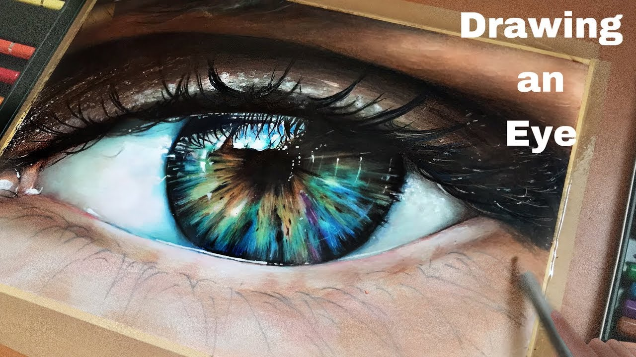 How To Draw a Realistic Eye Colouring in watercolour Pencils