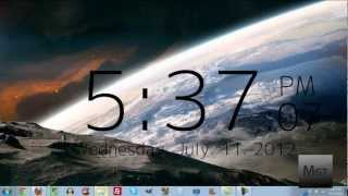 How To Get a Clock On Your Desktop in Windows