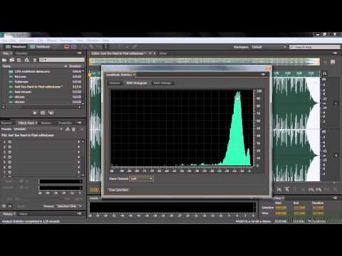 Adobe Audition CC Tutorial | Using Two Analytical Tools - Amplitude And Frequency