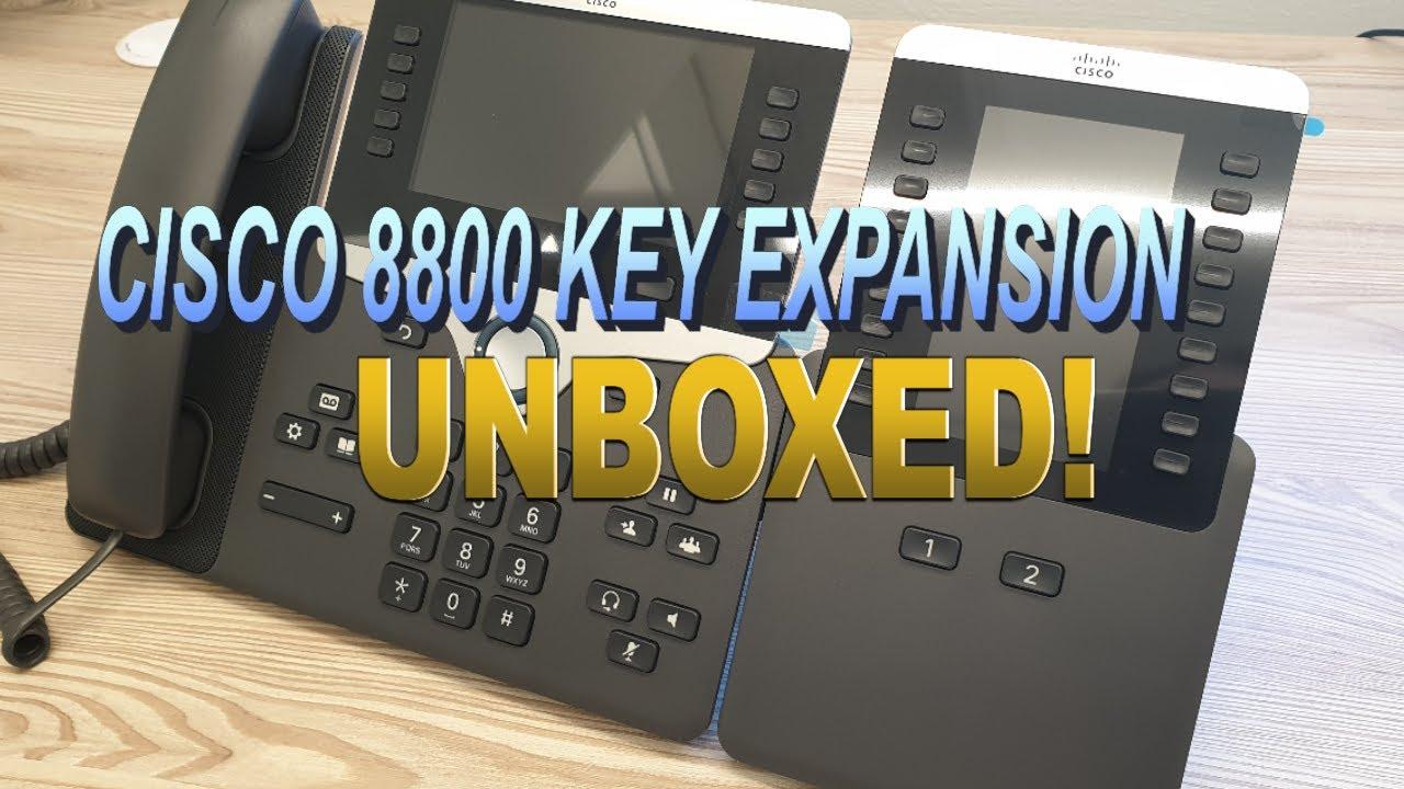 Cisco IP Phone 8800 Key Expansion Module Installation (4K)