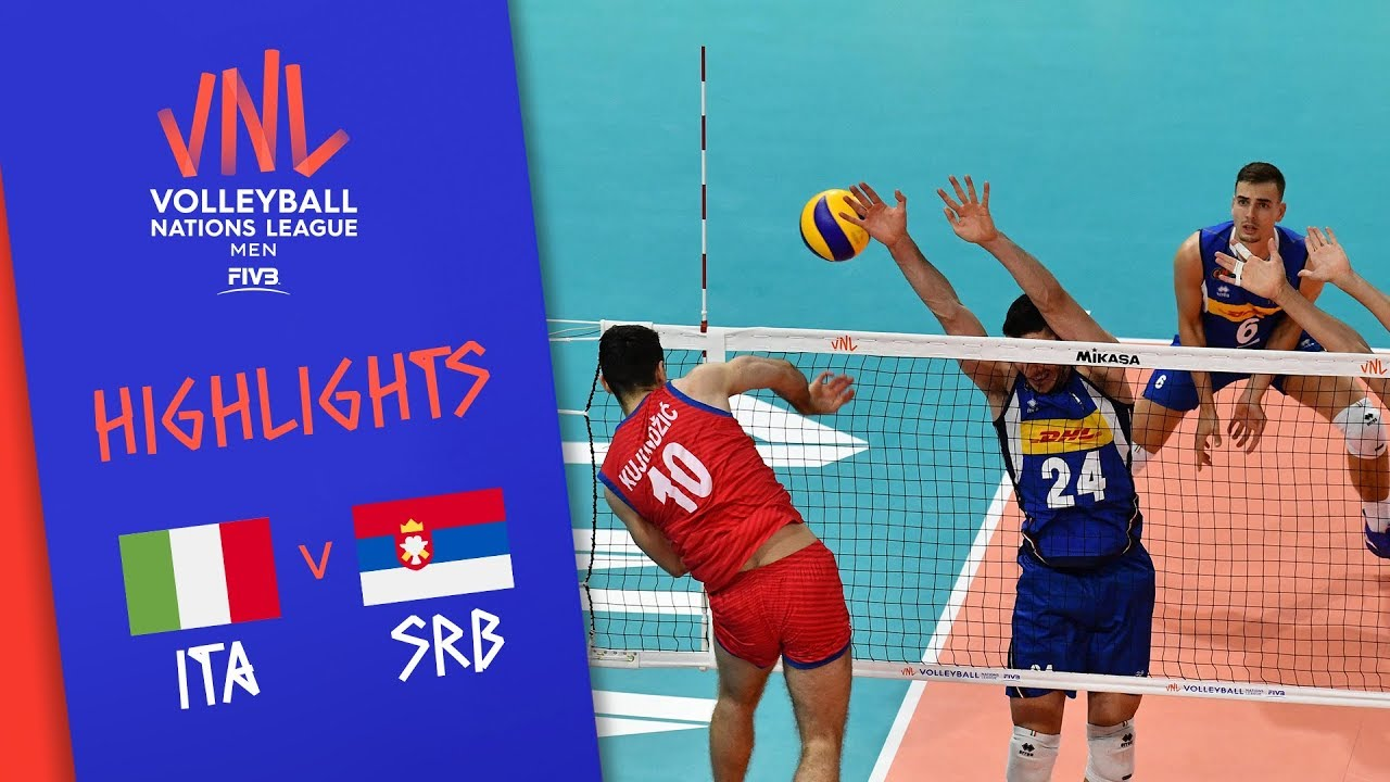 ITALY vs. SERBIA - Highlights Men | Week 4 | Volleyball Nations League 2019 - Match Highlights