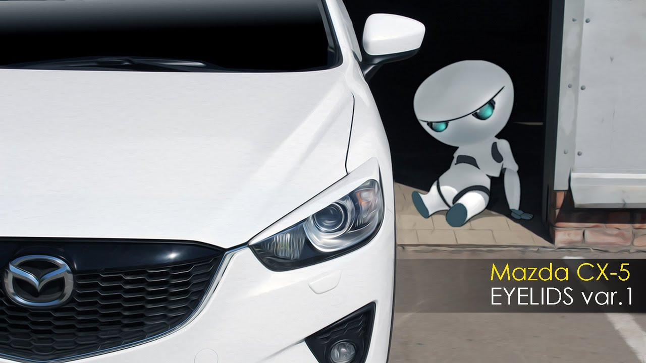 Тюнинг Mazda CX-5. EYELIDS/Реснички на фары (вариант 1).
