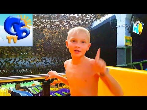 ⚽ Аквапарк Джунгли. Почему ЗАПРЕТИЛИ кататься на горках ⚽ Aquapark Jungle. The water slides