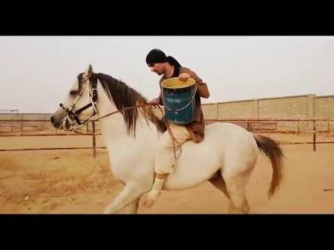 Ice Bucket Challenge on a horse^____^ تحدي سطل الثلج على ظهر حصان
