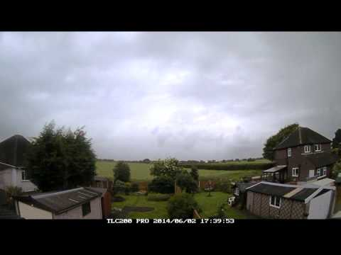 Unsettled weather timelapse of 2nd June 2014