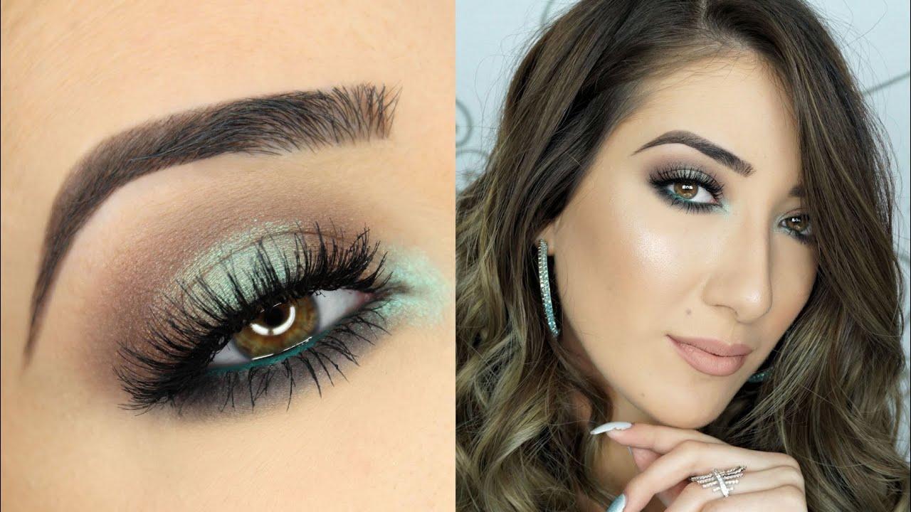 One Brand Drugstore Makeup Tutorial Brown And Teal Halo Smokey Eye