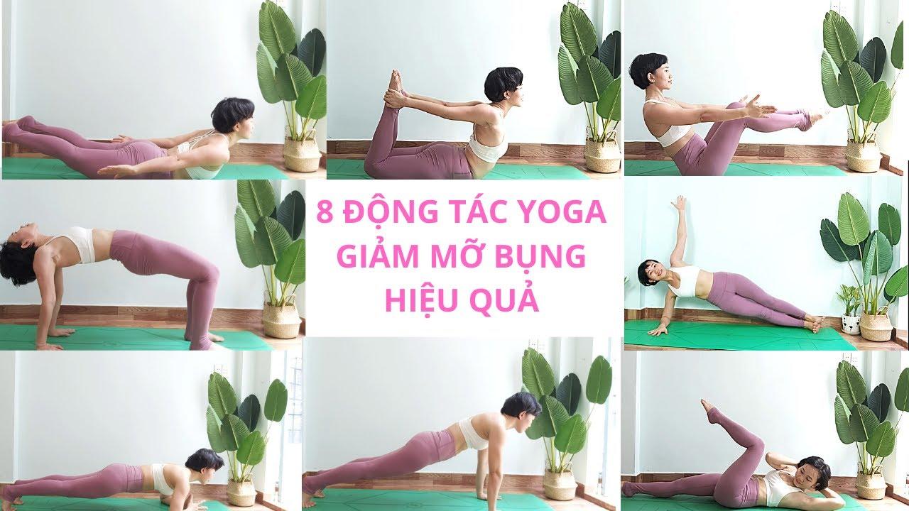 8 Động Tác Yoga Giảm Mỡ Bụng/Nhanh - Hiệu Quả - Dễ Thực Hiện/ 15 Phút /Yoga For Flat Belly/All Level