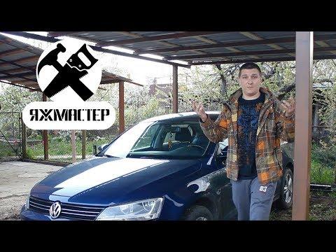 Как построить навес для машины своими руками видео
