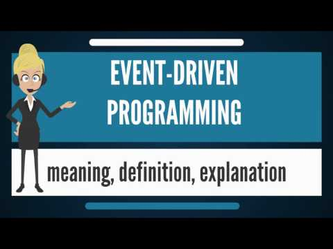What is EVENT-DRIVEN PROGRAMMING? What does EVENT-DRIVEN PROGRAMMING mean?