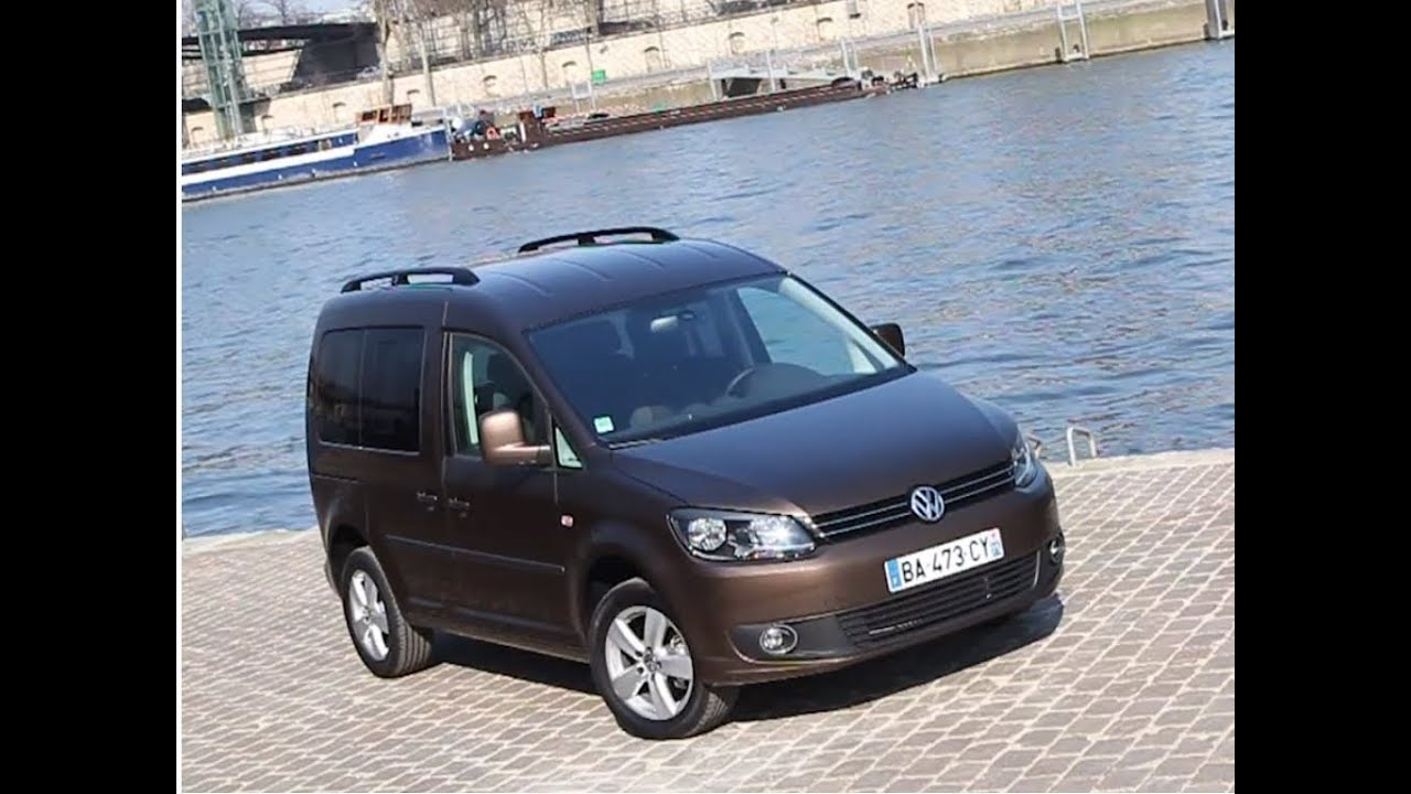 essai volkswagen caddy 1 6 tdi 102 confortline youtube. Black Bedroom Furniture Sets. Home Design Ideas
