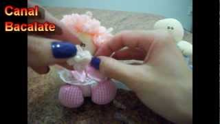 Artesanato Como fazer BONECA e BONECO de FUXICO Lembrancinha - DIY - Handmade,