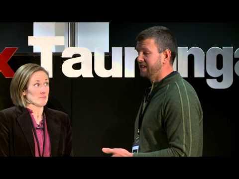 Tokelau, bringing solar power to a nation: Dean Parchomchuk and Charlotte Yates at TEDxTauranga