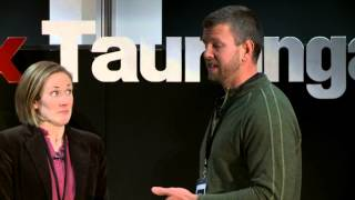 Tokelau, bringing solar power to a nation: Dean Parchomchuk and Charlotte Yates at TEDxTauranga