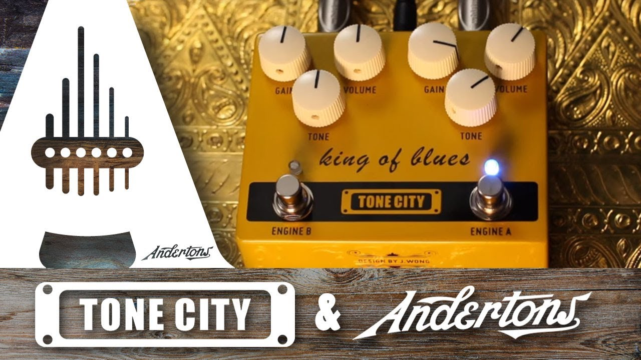 tone city king of blues a dual drive classic boost overdrive pedal youtube. Black Bedroom Furniture Sets. Home Design Ideas