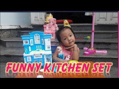 Reviews Elsa funny kitchen set - đồ chơi nhà bếp cho bé | Poko kids