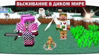 ч.05 Сумасшедшее Торнадо украло Диллерона!! Прощай остров!! - Выживание в диком мире (Lp.Minecraft)