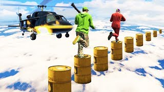 HELICOPTER vs. HUMAN! (GTA 5 Funny Moments)