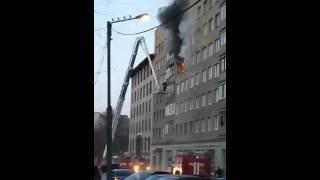 Пожар в Выборге на улице Димитрова  20 03 2016 г(, 2016-03-21T06:31:21.000Z)