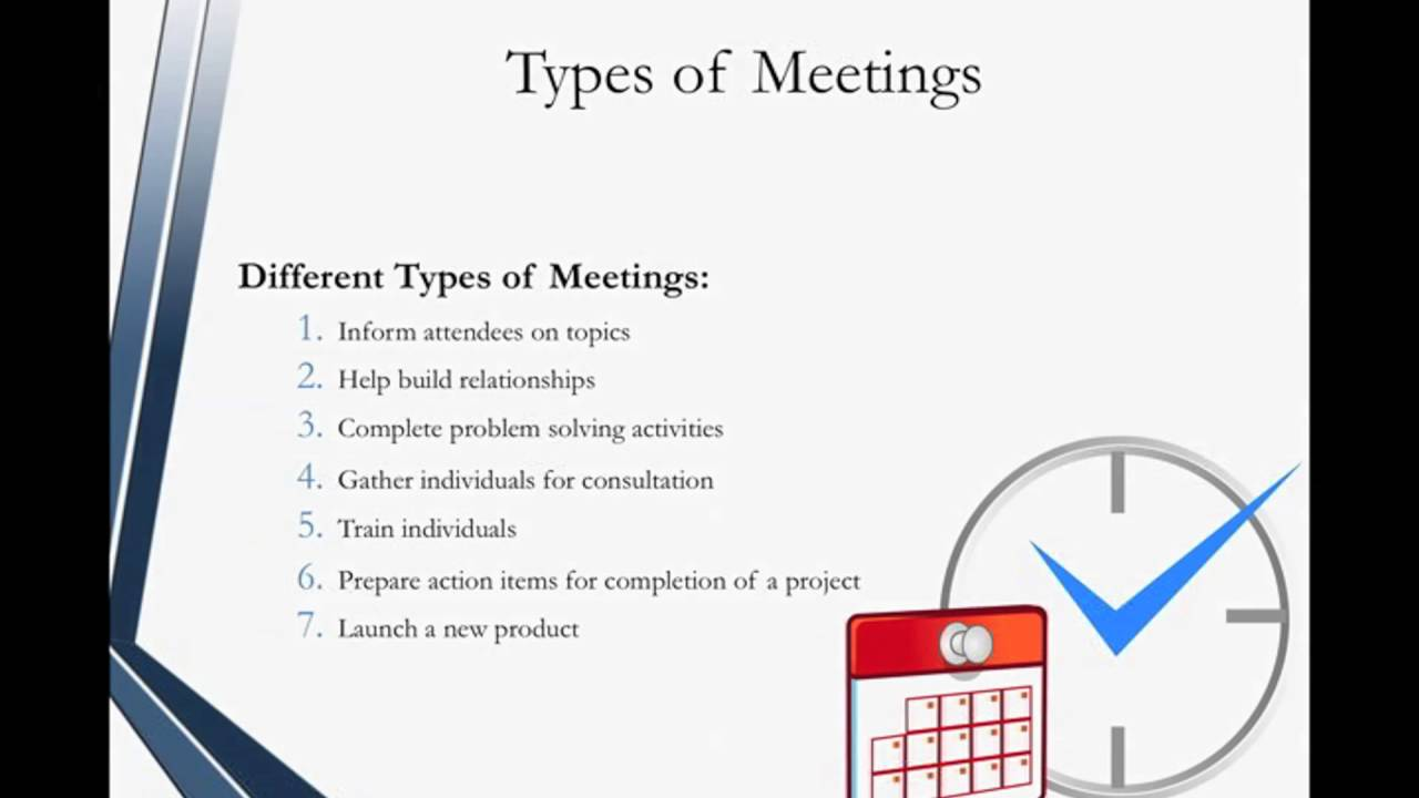 Administrative Assistant Certification Preparing For Meetings