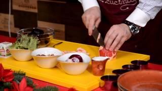 Салат из свеклы с орехами и маринованным луком