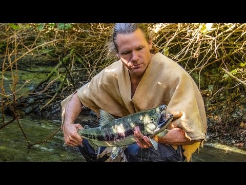 Catching Wild Salmon By Hand